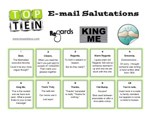 Top 10 E-mail Salutations